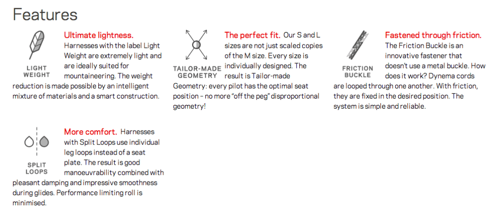 montis harness features