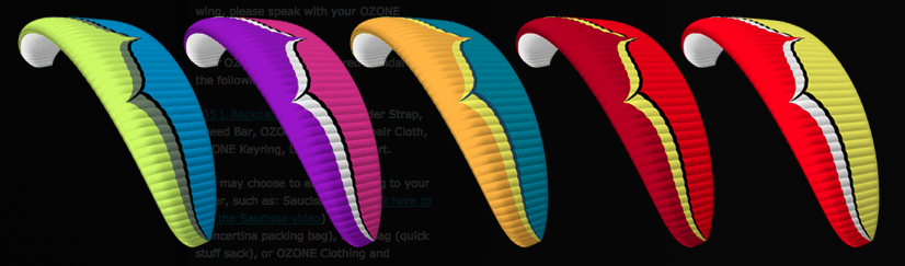 Rush 5 Paraglider Color Choices