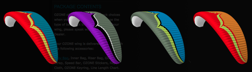 Freeride Paraglider Colors