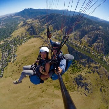 Tandem Paragliding Flight in Boulder