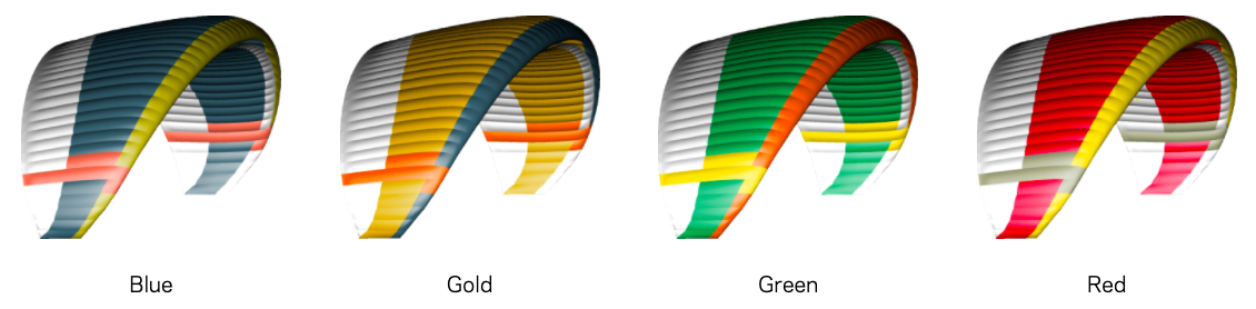 Aonic Paraglider Colors