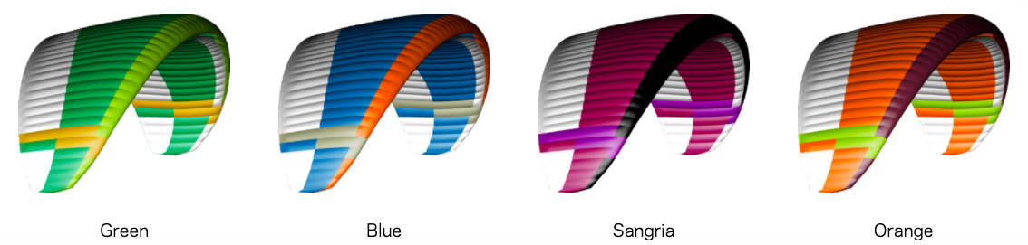 Ion 6 Paraglider Colors