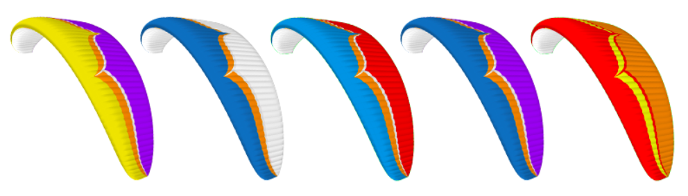 Ozone Paraglider Color Options