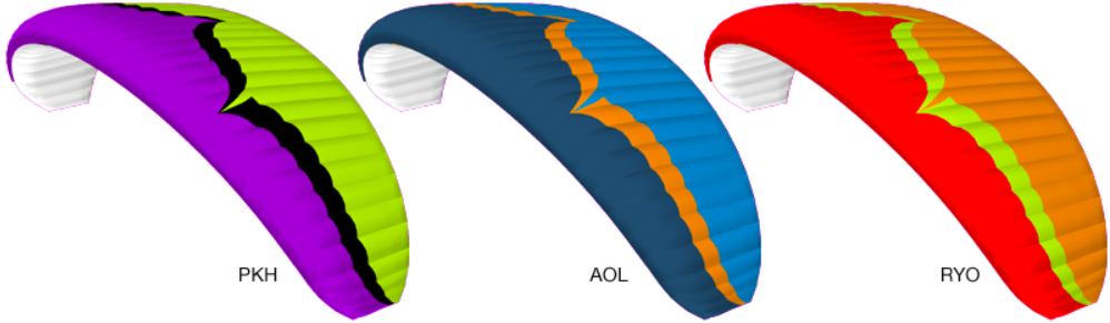 Ozone Paraglider Colors