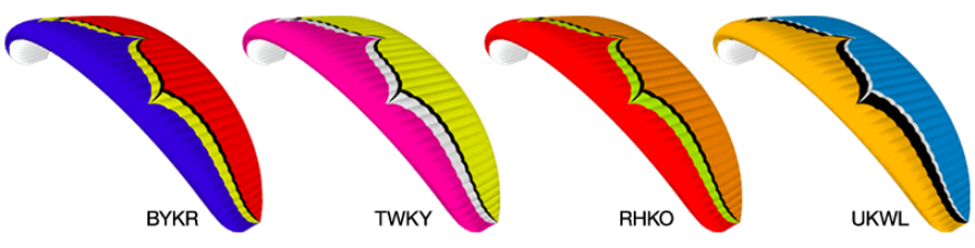 Ozone Wing Color Choices
